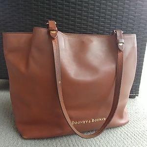 Dooney & Bourke City Flynn Camel Leather tote
